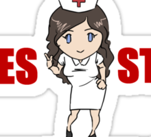 WHAT HAPPENS AT THE NURSES STATION Sticker