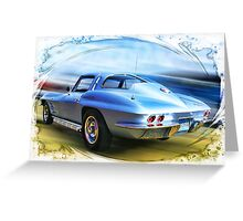 Speed,Style,......And Beauty ( 63 Vette ) Greeting Card