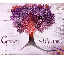 grow with me [purple] Photographic Print