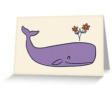 Peace Whale Greeting Card