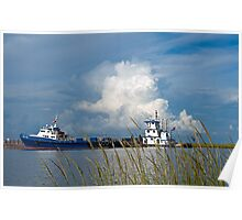 Boats on Bayou Lafourche Poster