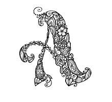 """A"" Flower Alphabet Letter Photographic Print"