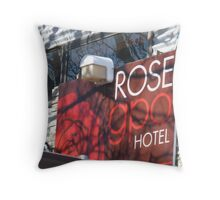 Rose GPO Hotel Throw Pillow