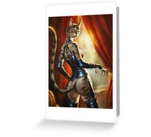 The Hermitage cats' Mistress Greeting Card