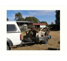 'OH NO NOT THE KINGSWOOD!'  rusty parts ready for dump. 'Arilka' Art Print