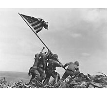 WWII Raising of the Flag Photographic Print