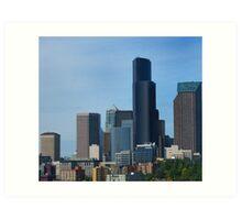 Cityscape of Seattle Art Print