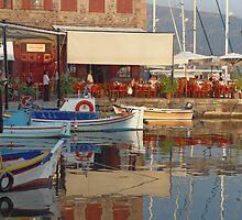Greek boat by Dani Hughes