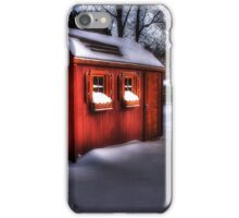 Red Barn, White Snow iPhone Case/Skin