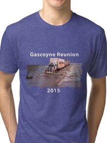 Gascoyne Reunion white writing Tri-blend T-Shirt