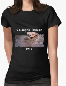 Gascoyne Reunion white writing Womens Fitted T-Shirt