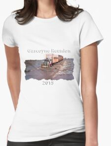 Gascoyne Reunion white writing Womens Fitted T-Shirt