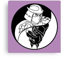 TMNT - Yin Yang - Shredder & Splinter 02 - Black Canvas Print