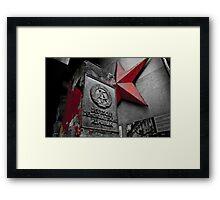 Blood Star Framed Print