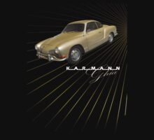Volkswagen Tee Shirt: Karmann Ghia by KombiNation