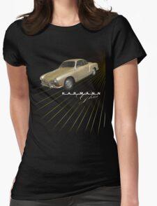 Volkswagen Tee Shirt: Karmann Ghia Womens Fitted T-Shirt
