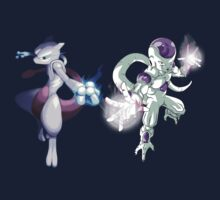 pokemon dragon ball z mewtwo frieza anime shirt by JordanReaps