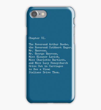 A Room with a View, Chapter VI iPhone Case/Skin