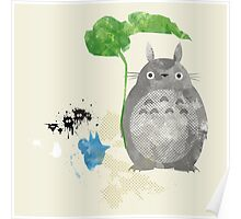 My Neighbor Totoro Giclee Vintage Digital Art  Poster