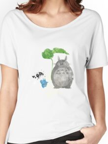 My Neighbor Totoro Giclee Vintage Digital Art  Women's Relaxed Fit T-Shirt