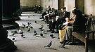 Feeding pigeons British Museum 19570831 0003 by Fred Mitchell