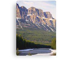 Castle Mountain & The Bow River Canvas Print