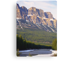 Castle Mountain & The Bow River Canvas Print