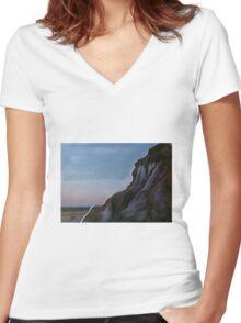 Mungo lunette landscape at sunrise Women's Fitted V-Neck T-Shirt