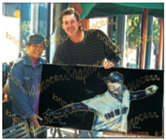"""sf Giants Big Unit Randy Johnson """"Beyond Electrifying #1""""signed by barcha"""