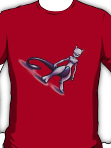 pokemon mewtwo mew anime shirt T-Shirt