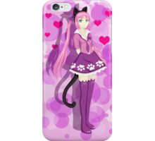 Pink Cat Girl iPhone Case/Skin