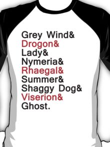 The Direwolves and The Dragons T-Shirt
