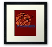 Scarred Sunset Framed Print