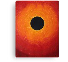 Black Hole Sun original painting Canvas Print