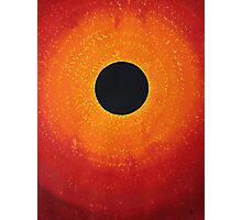 Black Hole Sun original painting Photographic Print
