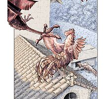 The Fighting Roosters and the Eagle by Stephanie Smith