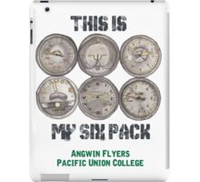 """Pacific Union College Angwin Flyers """"This Is My Six Pack"""" iPad Case/Skin"""