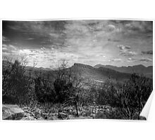 Grampians In Black and White - The HDR Experience Poster