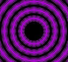 In Circles (Purple Version) by Roz Abellera Art Gallery