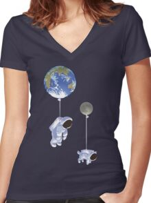 Spaceboy Women's Fitted V-Neck T-Shirt