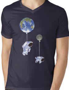 Spaceboy Mens V-Neck T-Shirt
