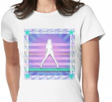 disco girl Womens Fitted T-Shirt