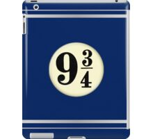 9 3/4 - Blue & Silver iPad Case/Skin