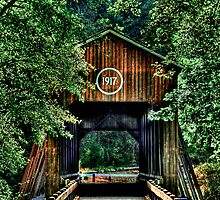 Applegate covered bridge hdr by Jeannie Peters