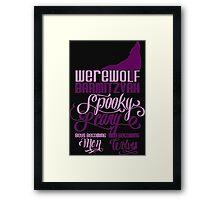 Werewolf Barmitzvah Framed Print