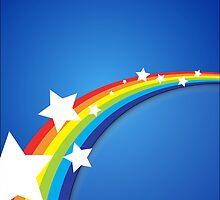 Rainbow Blue Sky by JolenesTrailer