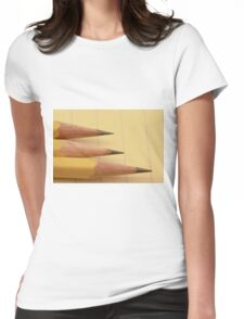 Three Pencils on Legal Pad Womens Fitted T-Shirt