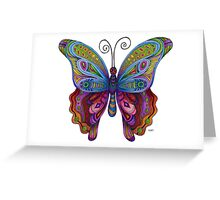 Butter Color Fly  Greeting Card