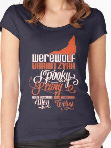 Werewolf Barmitzvah Orange Women's Fitted Scoop T-Shirt