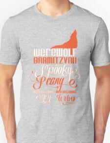 Werewolf Barmitzvah Orange Unisex T-Shirt